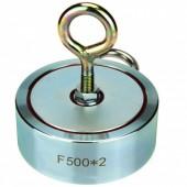 Двухсторонний поисковый магнит Росмагнит F-500х2