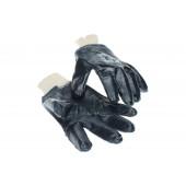 Перчатки х/б с ПВХ покрытием, черные