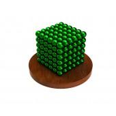 Куб из магнитных шариков 3 мм, зелёный