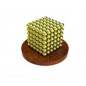 Куб из магнитных шариков 3 мм, золотой